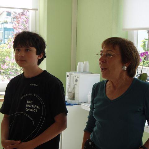 Mein Sohn Fabio mit Berti
