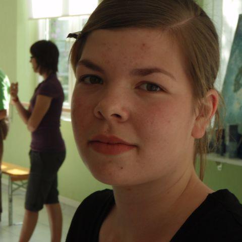 ein junges hübsches Gesicht
